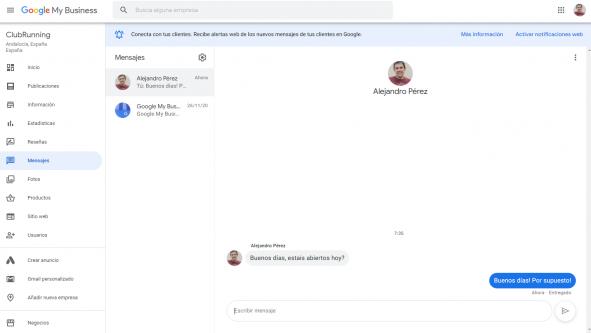 Ya puedes responder desde la web los mensajes de Google My Business